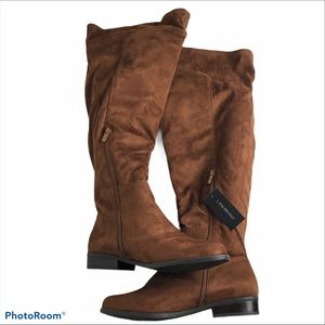 Lane Bryant over the knee brown suede boots